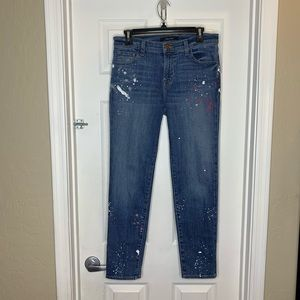 J Brand Johnny Mid Rise Boy Fit Peace Jeans